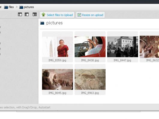 Upload ili izbor fotografija te dokumenata