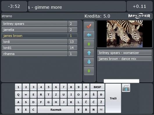 Touch screen jukebox za Linux Ubuntu OS